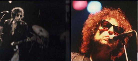 Bob Dylan Live In '81 Earl's Court (inside panels) Raz Records Label