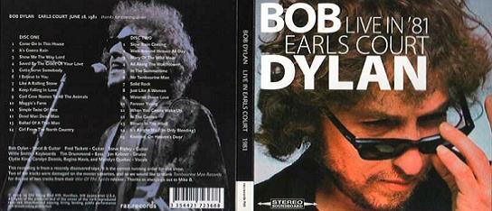 Bob Dylan Live In '81 Earl's Court Raz Records Label