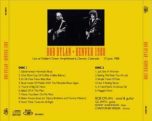 Bob Dylan Denver 1988 back Scorpio Label