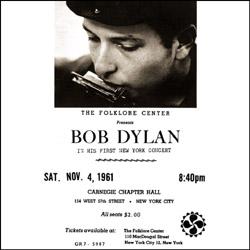 Bob Dylan Talkin' New York front Scorpio Label