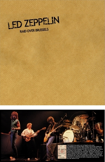 Led Zeppelin Raid Over Brussels TCOLZ Label