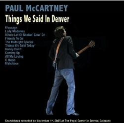 Paul McCartney Things We Said In Denver Audiofon Label