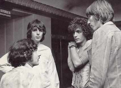 A young Pink Floyd group circa 1967, Richard Wright center