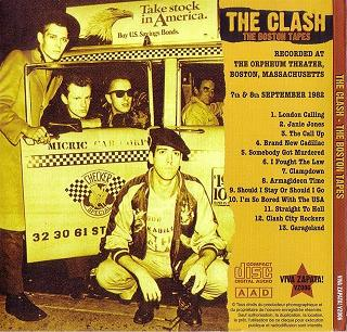 The Clash The Boston Tapes (back) Viva Zapata Label