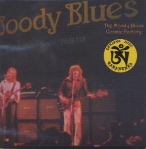 Moody Blues Cosmic Factory Tarantura Label